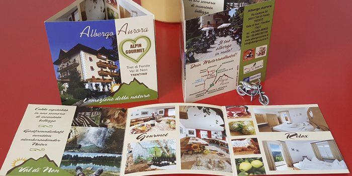 Realizzazione depliant Hotel Aurora Trento