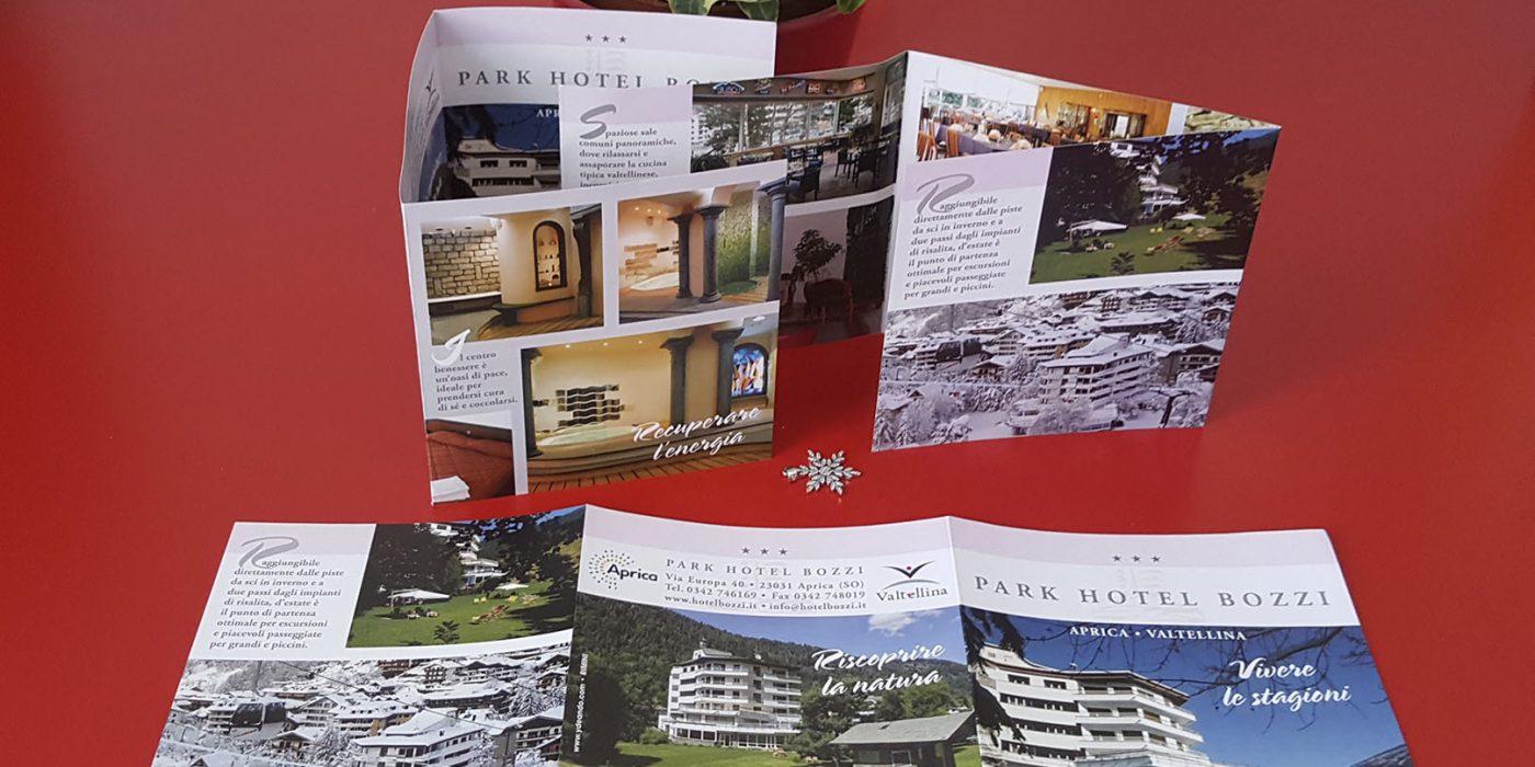 Realizzazione depliant Hotel Bozzi Aprica
