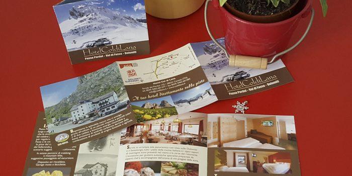 Realizzazione depliant Hotel Col di Lana Canazei