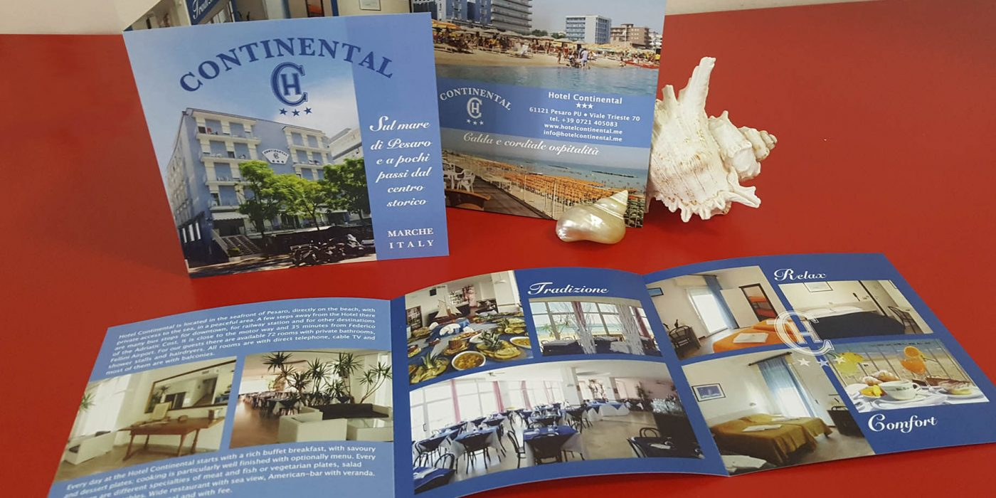 Realizzazione Depliant Hotel Continental Pesaro