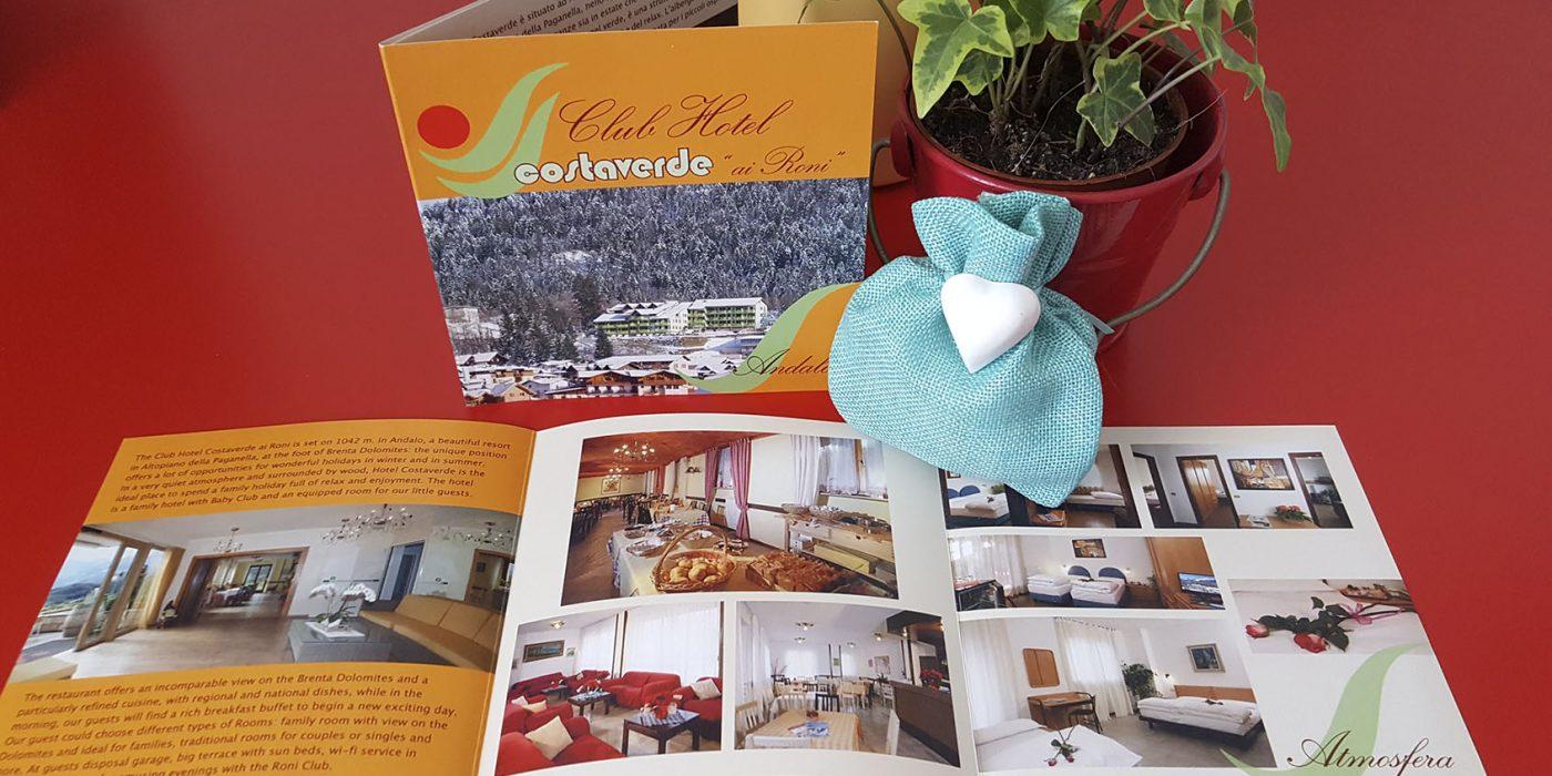 Realizzazione depliant Hotel Costa Verde Andalo