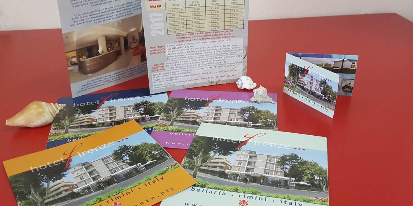 Realizzazione Depliant Hotel Firenze Bellaria