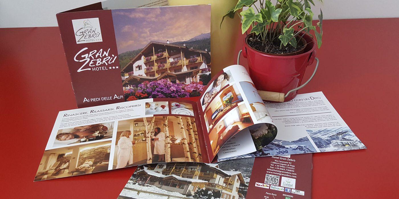 Realizzazione depliant Hotel Gran Zebrù