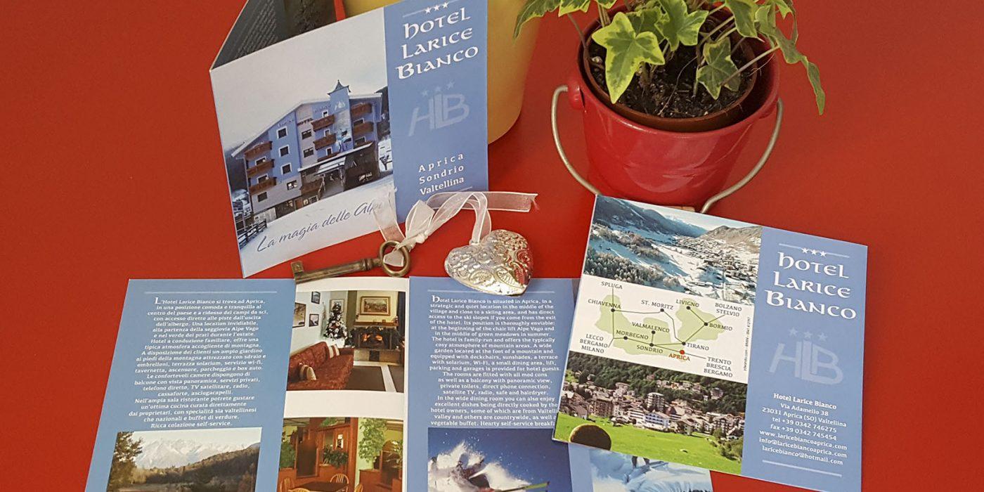 Realizzazione depliant Hotel Larice Bianco Aprica