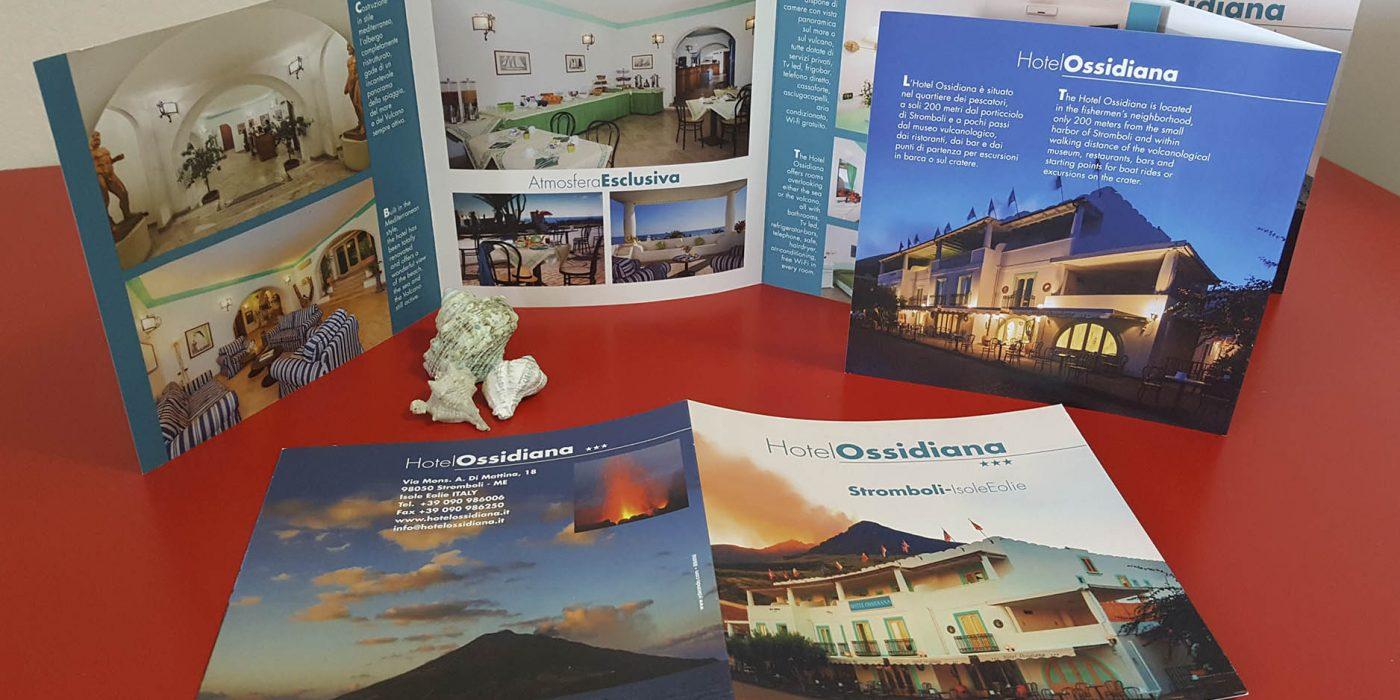 Realizzazione depliant Hotel Ossidiana Isole Eolie
