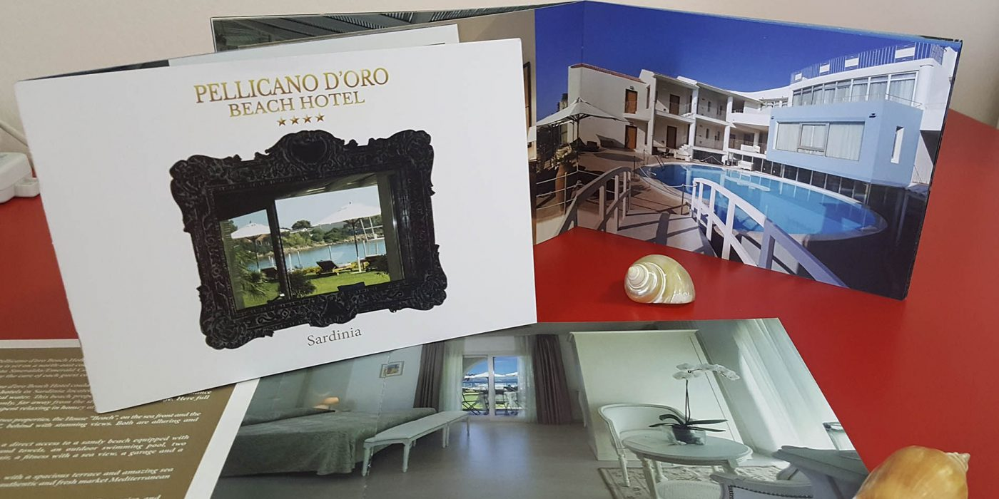 Realizzazione depliant Hotel Pellicano d'Oro Olbia