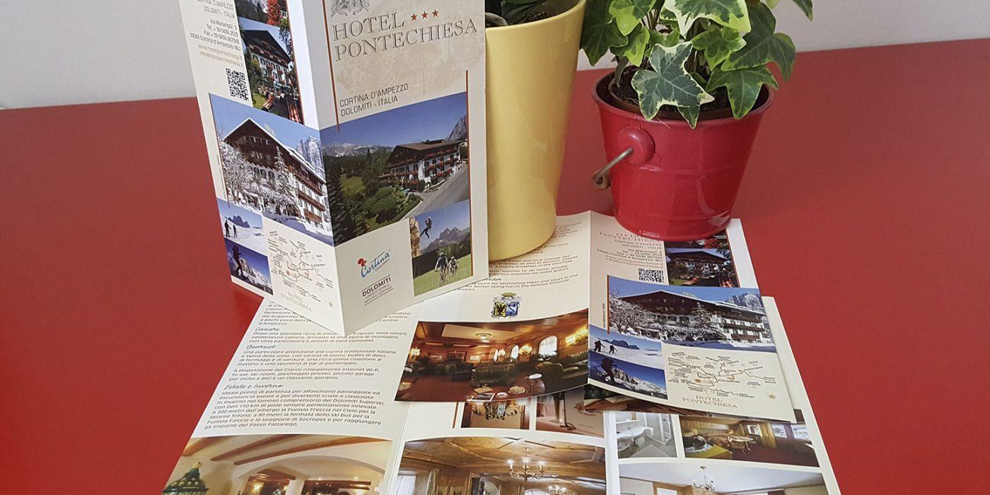 Realizzazione depliant Hotel Pontechiesa Cortina d'Ampezzo