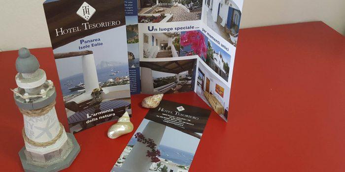Realizzazione depliant Hotel Tesoriero Isole Eolie