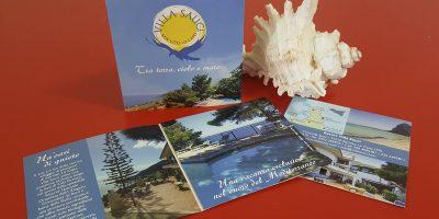 Realizzazione depliant Resort Villa Sauci