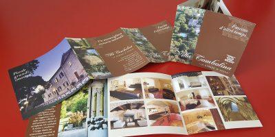 Realizzazione depliant Villa Tombolina