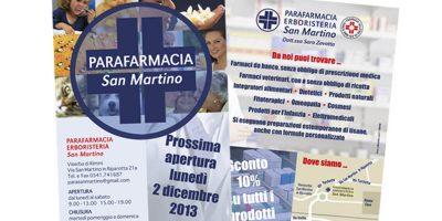 Realizzazione locandina Parafarmacia Erboristeria San Martino