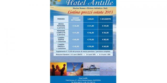 Realizzazione volantino Hotel Antille Marina Romea