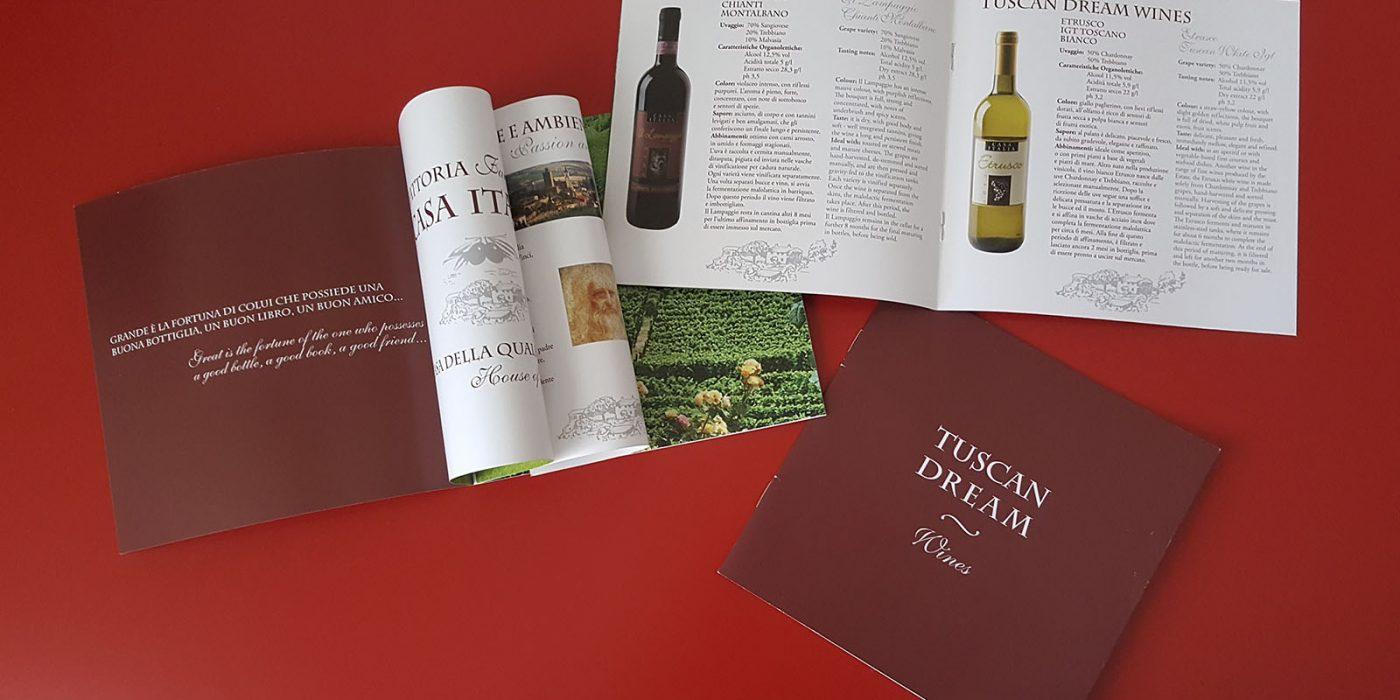 Realizzazione catalogo Tuscan Dream Wines