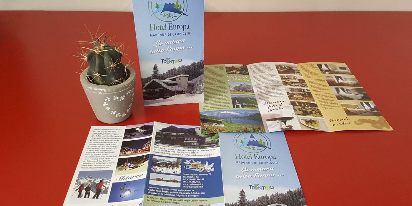 Realizzazione depliant Hotel Europa Trentino