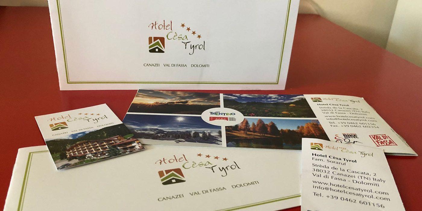 Realizzazione depliant Hotel Cèsa Tyrol Canazei