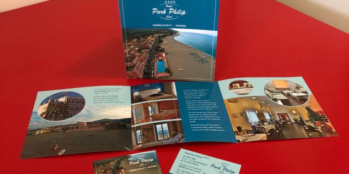 Realizzazione depliant Hotel Park Philip Messina