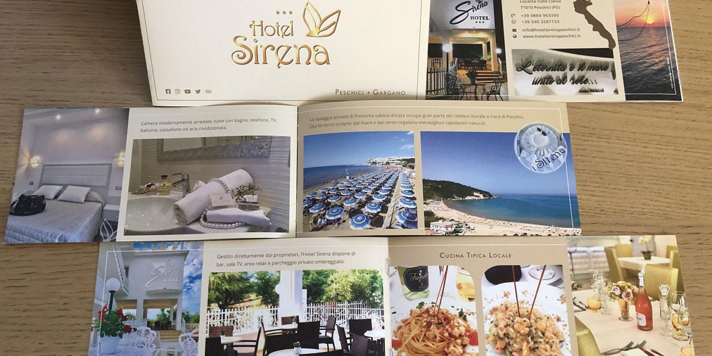 Realizzazione depliant Hotel Sirena Peschici